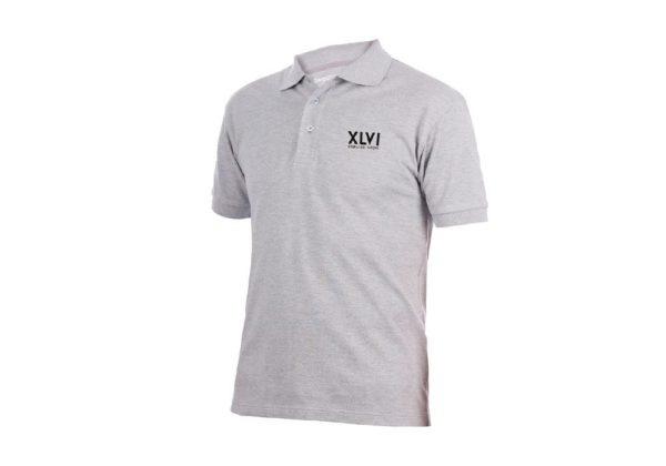 Grey Polo shirt logo XLVI