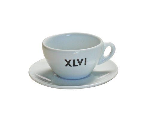 Tazza cappuccino bianca XLVI
